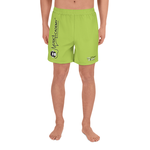 Mens Long Shorts - GS Music Academy - Green