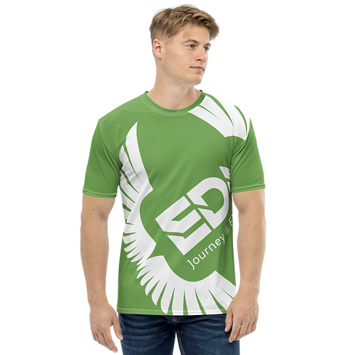Men's T-shirt Green - EDM Journey to Freedom Large Print - White