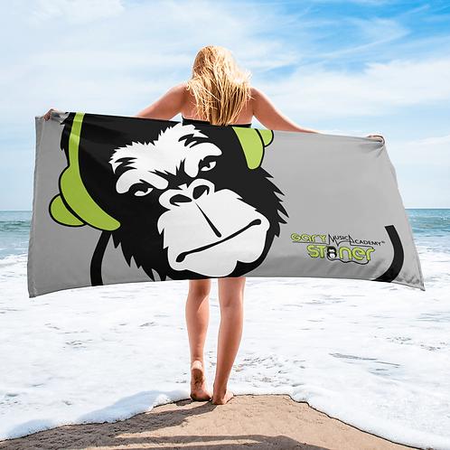 Beach Towel / Towel - GS Music Academy Ape DJ Green - Grey
