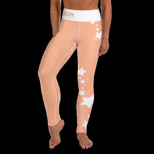 Women's Leggings White Star - EDM J to F Peach