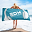 Thumbnail: Beach Towel Pink - EDM J to F Headphones White - Teal Blue