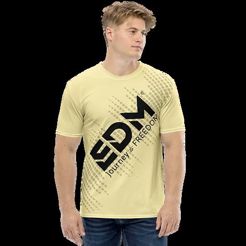 Men's T-shirt - EDM J to F Sound Bars - Black / Lemon