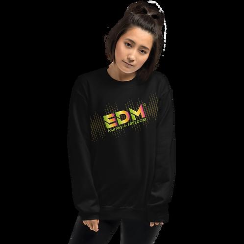 Womens Sweatshirt - EDM J to F Sound Bars - Rainbow Multi / Various