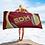 Thumbnail: Beach / Bath Towel - EDM J to F Headphones Gold - Burgundy