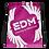 Thumbnail: Dark Pink Drawstring Bag - EDM Journey to Freedom Large Print - White