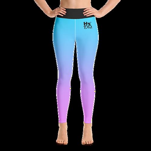 Women's Leggings - HS Design & Music Black Logo - Multi Gradient
