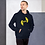 Thumbnail: Mens Unisex Hoodie EDM J to F Logo Print Yellow - Various