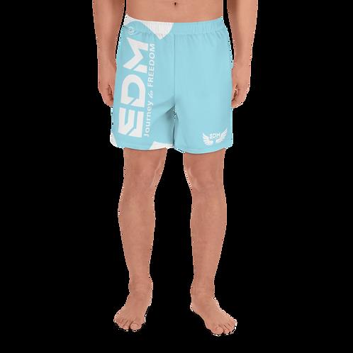 Men's Long Shorts - EDM J to F White - Sky Blue