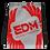Thumbnail: Grey Drawstring Bag - EDM Journey to Freedom Large Print - Red