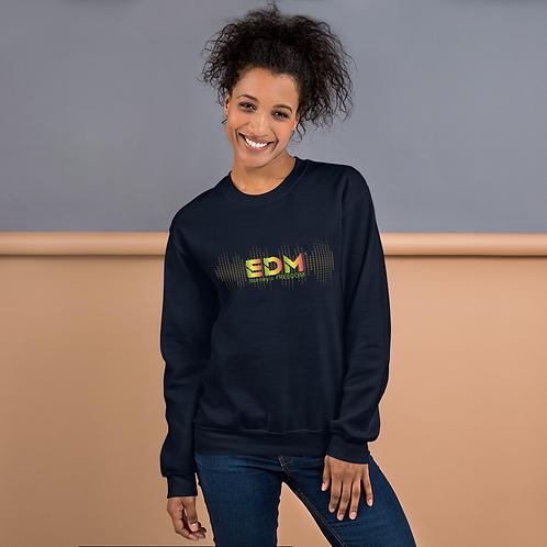 Women's Unisex Sweatshirt EDM J to F Sound bars Multi - Black / Navy