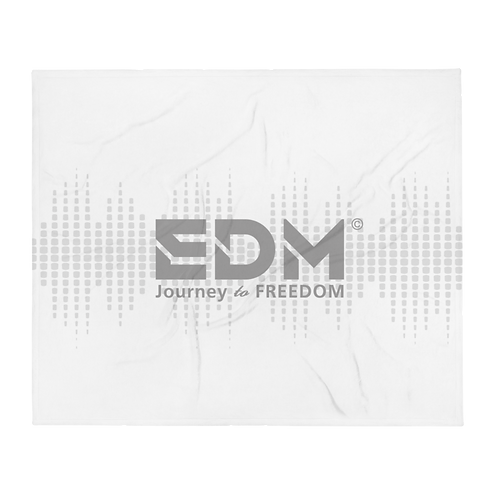Fleece Throw Blanket - 50 x 60cm - EDM J to F Sound bars -White / Grey