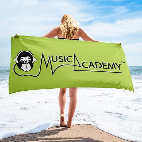 Beach /Bath Towel - GS Music Academy Ape / Text - Green