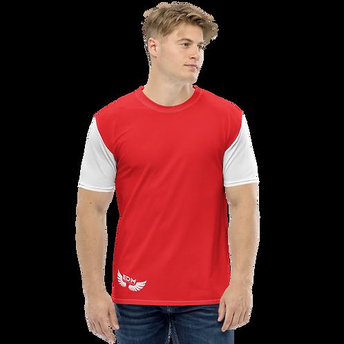 Men's T-shirt - Red/White - EDM J to F Logo