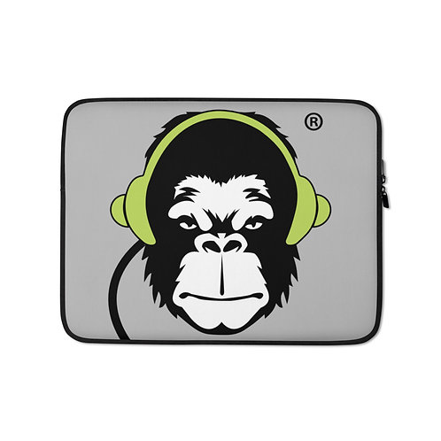 Laptop Case Zip Up - GS Music Academy Ape DJ - Grey