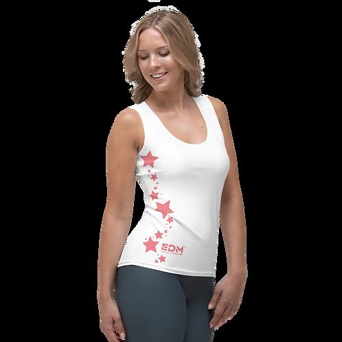 Women's Vest - EDM J to F Coral Star - White