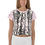 Thumbnail: Womens Crop Top - EDM J to F Snake Print - Pink Sleeves