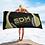 Thumbnail: Beach / Bath Towel - EDM J to F Headphones Gold - Black