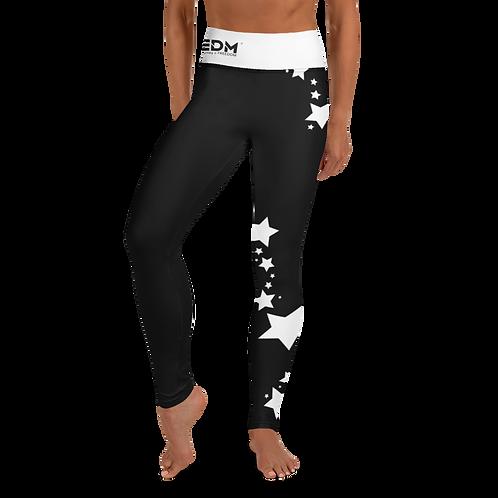 Women's Leggings White Star - EDM J to F Black
