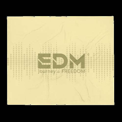 Fleece Throw Blanket - 50 x 60cm - EDM J to F Sound bars - Yellow / Gold