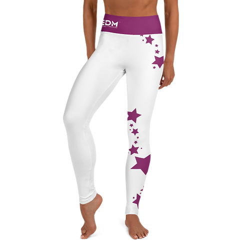 Women's Leggings Plum Star - EDM J to F White