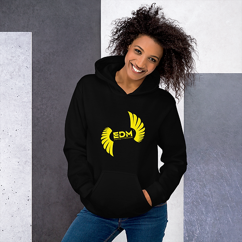 Women's Unisex Hoodie EDM J to F Logo Print Yellow - Various