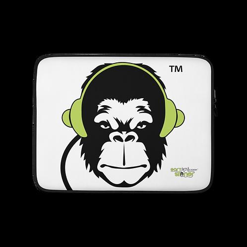 Laptop Case Zip Up - GS Music Academy Ape DJ - White copy