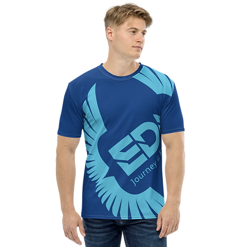 Men's T-shirt Royal Blue - EDM Journey to Freedom Large Print - Blue