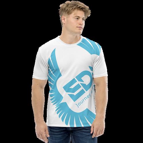 Men's T-shirt White - EDM Journey to Freedom Large Print - Blue