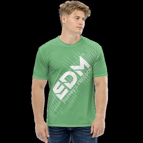 Men's T-shirt - EDM J to F Sound Bars - White / Green