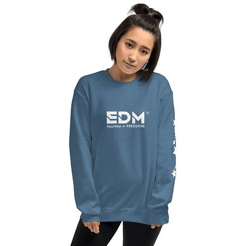 Womens Sweatshirt - EDM J to F No Wings Logo Star White - Various
