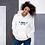 Thumbnail: Womens Unisex Hoodie EDM J to F Wings Logo Print Multi - White