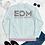 Thumbnail: Women's Unisex Fit Bomber Jacket - EDM J to F - Pale Pink DJ Style - Ice Blue