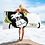 Thumbnail: Beach Towel / Towel - GS Music Academy Ape DJ Green - White