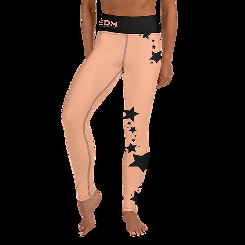 Women's Leggings Black Star - EDM J to F Peach