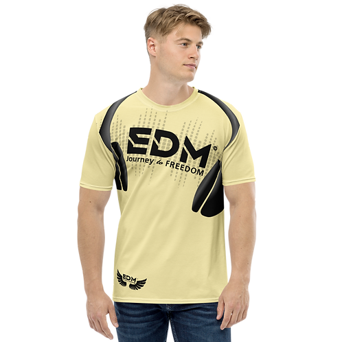 Men's T-shirt - EDM J to F Headphones Black - Lemon