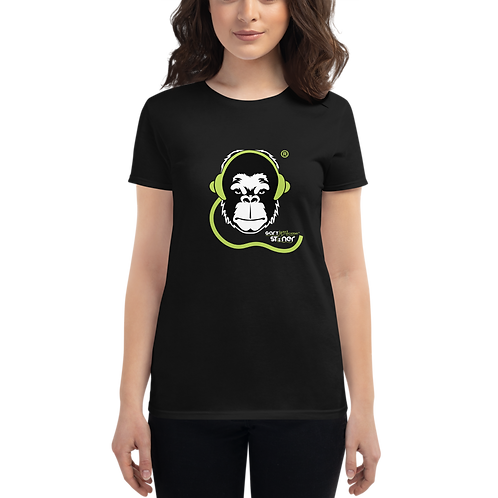 Women's T-shirt - GS Music Academy Ape DJ - Black