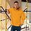 Thumbnail: Mens Embroidered Champion Packable Jacket - EDM J to F Orange