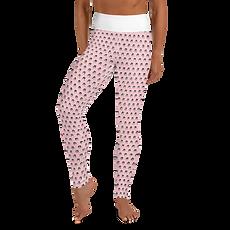 Womens Leggings - GS Music Academy Ape Pattern - Pink