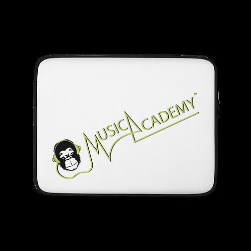 Laptop Case Zip Up - GS Music Academy Ape Text - White copy