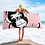 Thumbnail: Beach Towel / Towel - GS Music Academy Ape DJ White - Pink