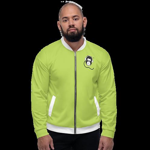 Men's Unisex Fit Bomber Jacket - GS Music Academy - Green / Black Detail