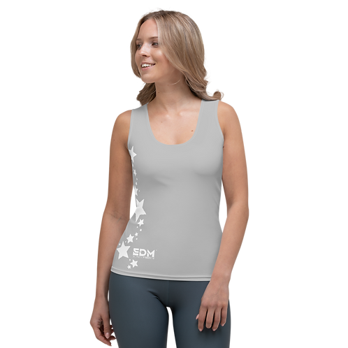 Women's Vest - EDM J to F White Star - Grey