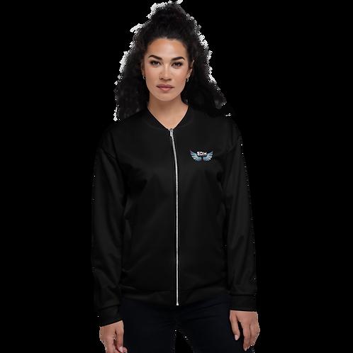 Women's Unisex Fit Bomber Jacket - EDM Journey to Freedom - Black / Multi