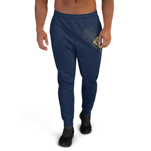 Men's Joggers - EDM J to F Sound Bars Gold - Navy
