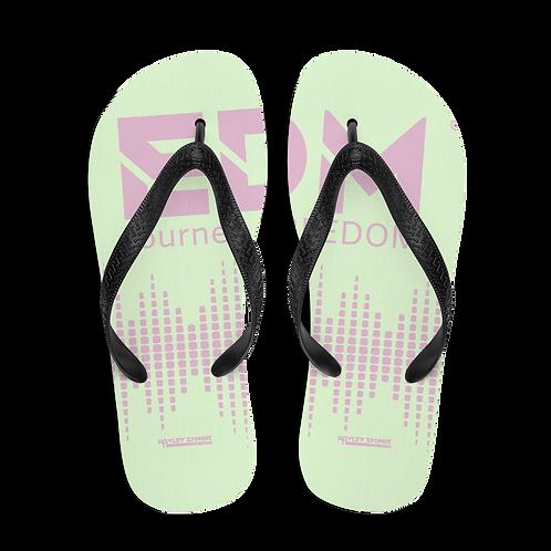 Flip-Flops Mint Pink EDM J to F Sound Bars Print - Pink