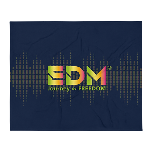 Fleece Throw Blanket - 50 x 60cm - EDM J to F Sound bars - Navy / Multi