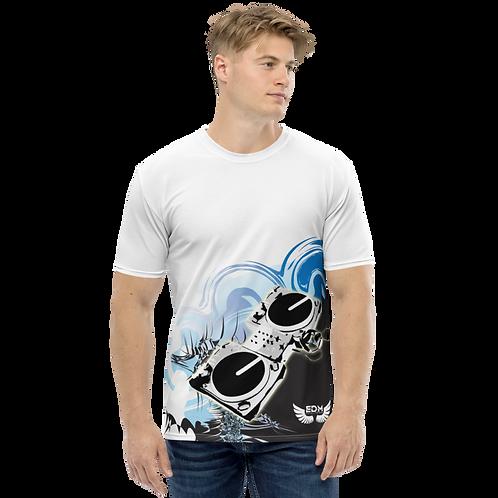 Men's T-shirt - EDM J to F Decks - White/Multi