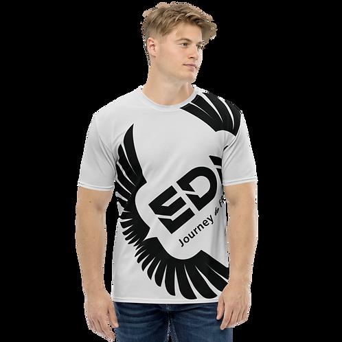 Men's T-shirt Ice Grey - EDM Journey to Freedom Large Print - Black