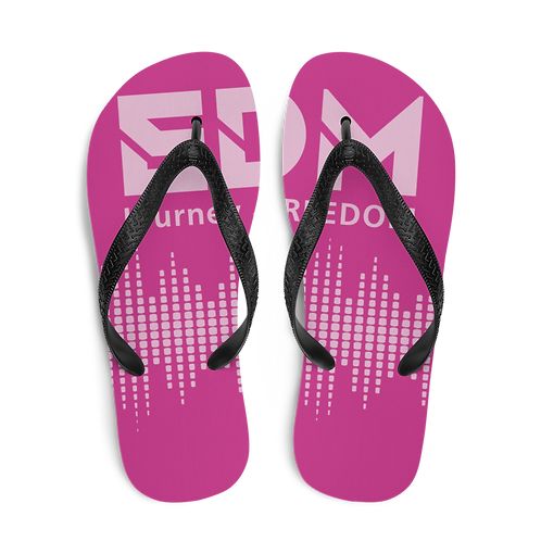 Flip-Flops Dark Pink EDM J to F Sound Bars Print - Pink