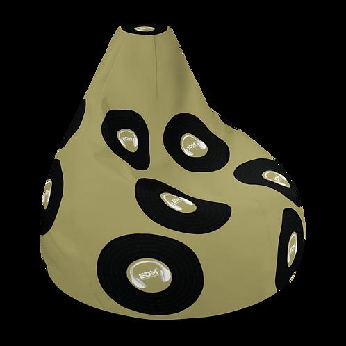 Bean Bag Chair Cover - EDM J to F Record H/phone Logo - Gold